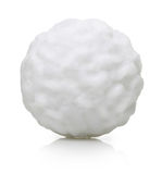 Snow ball isolated. On white background Stock Photography