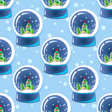 Snow ball seamless pattern  Stock Image