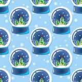 Snow ball seamless pattern  Stock Image