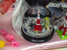 Snow ball. Souvenir - Tokyo tower snow ball Royalty Free Stock Images