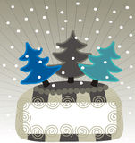 Snow banner Royalty Free Stock Images