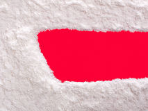 Snow banner Stock Photo