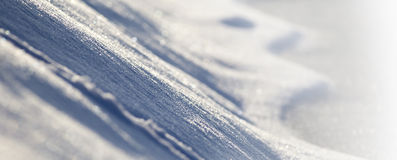 Snow banner background Stock Photography