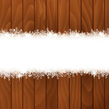 Snow banner Stock Image