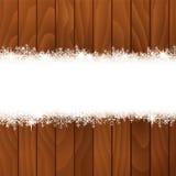 Snow banner Stock Image