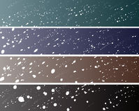 Snow banners (468/90) Royalty Free Stock Photos