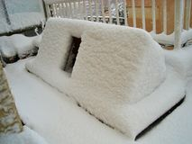 Snow in Barcelona! Stock Photos