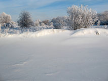 Snow barrier stock photography