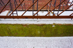 Snow on barrier Stock Image