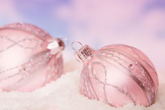 Snow baubles Royalty Free Stock Photo