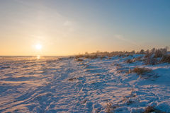 Snow on the beach Royalty Free Stock Photography