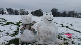 Snow beasts royalty free stock image