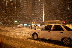 Snow in Beijing, China Royalty Free Stock Images