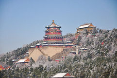 The snow of Beijing the Summer Palace Royalty Free Stock Image