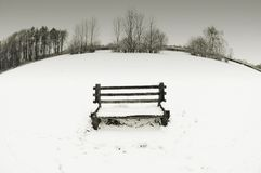 Snow bench Stock Images