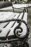 Snow Bench royalty free stock photography