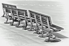 Snow benches Stock Photos