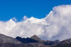 Snow berg Namjagbrawa. In Tibet, China Royalty Free Stock Photos
