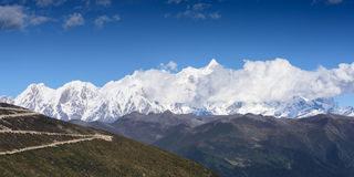 Snow berg Namjagbrawa. In Tibet, China Royalty Free Stock Image