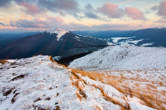 Snow in Bieszczady Mountains Stock Photos