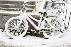 Snow Bike Stock Images