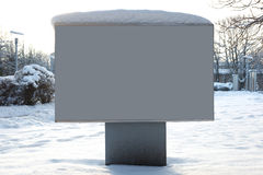 Snow billboard Stock Image