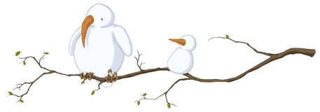 Snow Bird, Colored. Cold snowy weather theme cartoon, vector, isolated Royalty Free Stock Photography