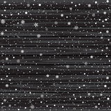 Snow and black wood background Royalty Free Stock Photography
