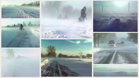 Snow blizzard-Multi Sreen Royalty Free Stock Images