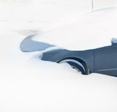 Snow blocked cars Stock Photography