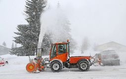 Snow_blower Stock Afbeeldingen