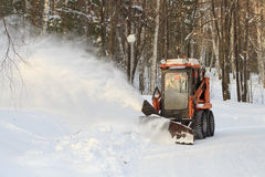 Snow blower Stock Photos