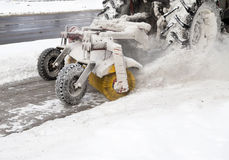 Snow blower. Machine in the street royalty free stock image