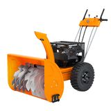 Snow blower, 3D rendering. Isolated on white background vector illustration