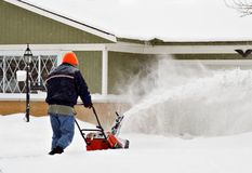 Snow-blower Man Royalty Free Stock Images