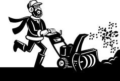 Snow blower or snow thrower Royalty Free Stock Image