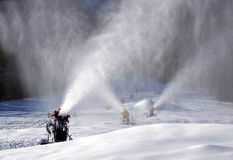 Snow blowers Stock Image