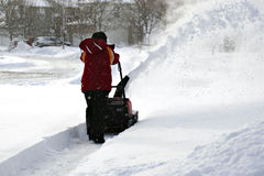 Snow blowing Royalty Free Stock Photography