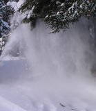 Snow blowing. Special effects Royalty Free Stock Photo