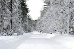 Thickly Snow covered Street  Stock Image