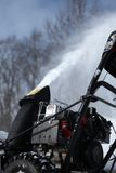 Snow blowing machine Stock Photography