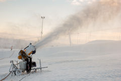 Snow blowing machine Royalty Free Stock Photos