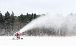 Snow blowing machines Royalty Free Stock Photo