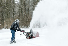 Snow Blowing up a Storm Royalty Free Stock Photos
