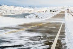 Snow blowing wind in Colorado Stock Image