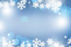 Snow blue abstract background Stock Photo