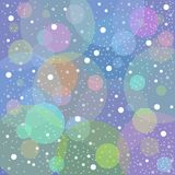 Snow blue background Stock Photography