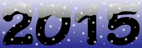2015 in the Snow Blue Stock Photos