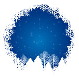 Snow blue ring Royalty Free Stock Image