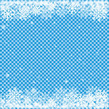 Snow on blue transparent background Royalty Free Stock Photo
